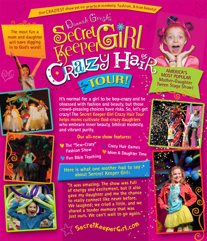 Secret Keeper Girl: Crazy Hair Tour! @ St. John's Lutheran Church | Bakersfield | California | United States