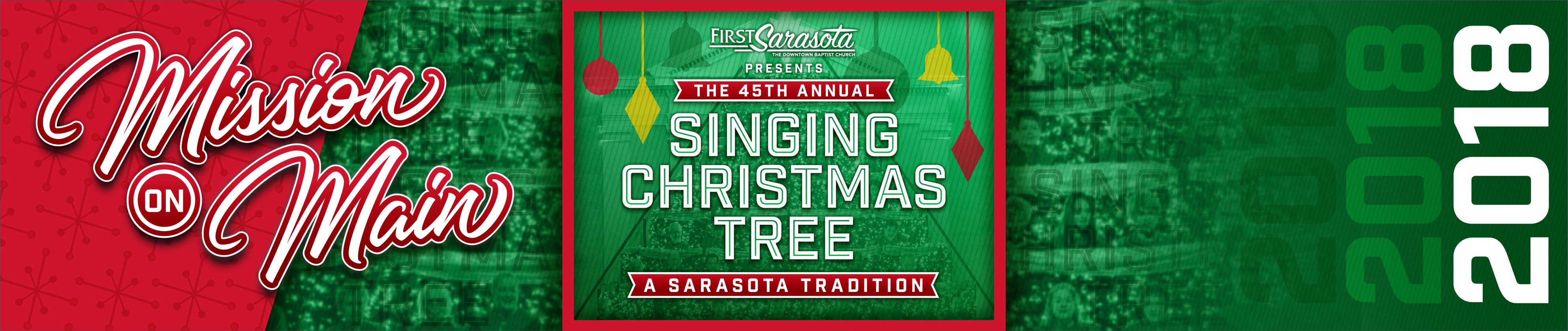 Singing Christmas Tree - First Sarasota   Brushfire